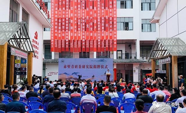 赤壁青砖茶研究院正式揭牌成立